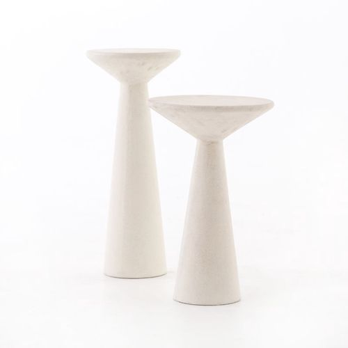 """Ravine Side Table in Parchment White (10.5"""" x 10.5"""" x 20"""")"""