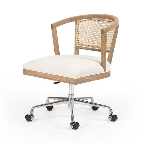 Four Hands Alexa Desk Chair in Natural Cane