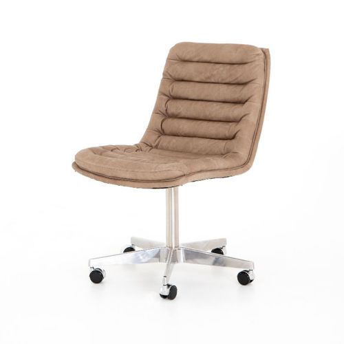 Four Hands Malibu Desk Chair in Natural Washed Mushroom
