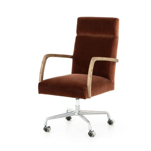 Four Hands Bryson Office Chair in Distressed Nettlewood
