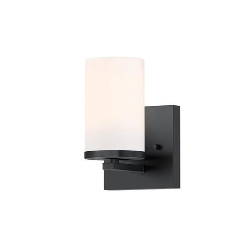 """Lateral 7.63"""" One Light Wall Sconce Bath Vanity in Black"""