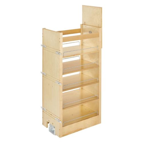 """Rev-A-Shelf 448 Series Natural Maple Pull-Out Organizer - (14"""" x 22"""" x 51.8"""") - 448-tp43-14-1"""