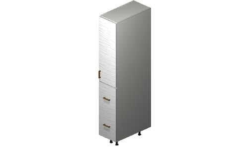 """Marquis White Pine Tall Cabinet - 1 Door, 2 Drawers (12 x 71.25 x 24"""")"""""""""""