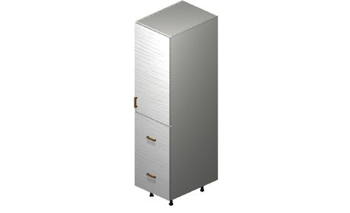 """Marquis White Pine Tall Cabinet - 1 Door, 2 Drawers (18 x 71.25 x 24"""")"""""""""""