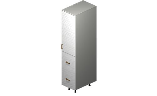 """Marquis White Pine Tall Cabinet - 1 Door, 2 Drawers, 1 Inner Drawer (15 x 71.25 x 24"""")"""""""""""