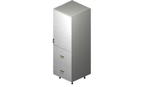 """Marquis White Pine Tall Cabinet - 1 Door, 2 Drawers, 1 Inner Drawer (24 x 71.25 x 24"""")"""""""""""