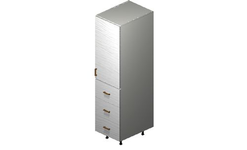 """Marquis White Pine Tall Cabinet - 1 Door, 3 Drawers (18 x 71.25 x 24"""")"""""""""""