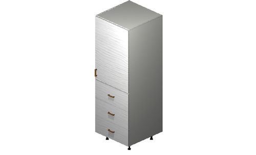 """Marquis White Pine Tall Cabinet - 1 Door, 3 Drawers (24 x 71.25 x 24"""")"""""""""""
