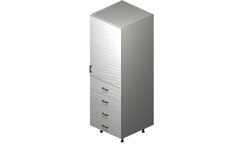 """Marquis White Pine Tall Cabinet - 1 Door, 4 Drawers (24 x 71.25 x 24"""")"""""""""""