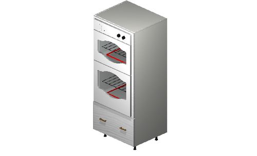 """Marquis White Pine Oven Tall Cabinet - 1 Drawer (30 x 71.25 x 24"""")"""""""""""
