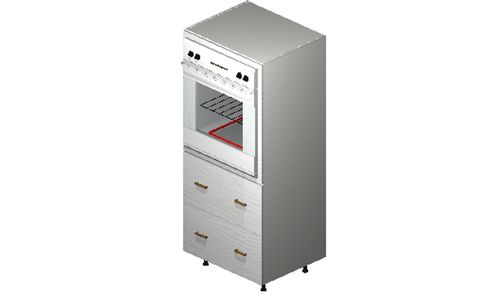 """Marquis White Pine Oven Tall Cabinet - 2 Drawers (30 x 71.25 x 24"""")"""""""""""
