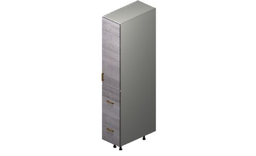 """Marquis Grey Wood Tall Cabinet - 1 Door, 2 Drawers (12 x 71.25 x 24"""")"""""""""""