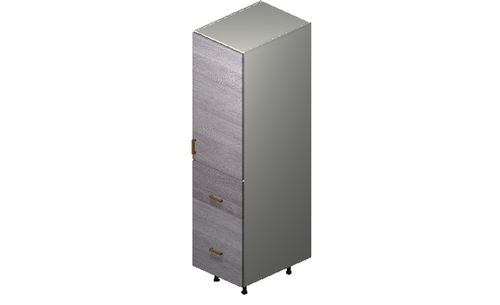 """Marquis Grey Wood Tall Cabinet - 1 Door, 2 Drawers (18 x 71.25 x 24"""")"""""""""""