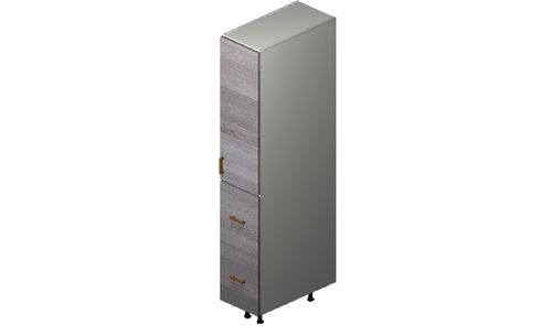 """Marquis Grey Wood Tall Cabinet - 1 Door, 2 Drawers, 1 Inner Drawer (12 x 71.25 x 24"""")"""""""""""