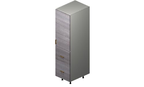 """Marquis Grey Wood Tall Cabinet - 1 Door, 2 Drawers, 1 Inner Drawer (18 x 71.25 x 24"""")"""""""""""