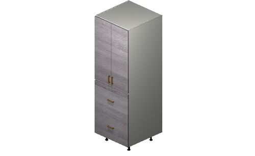 """Marquis Grey Wood Tall Cabinet - 2 Doors, 2 Drawers, 1 Inner Drawer (24 x 71.25 x 24"""")"""""""""""