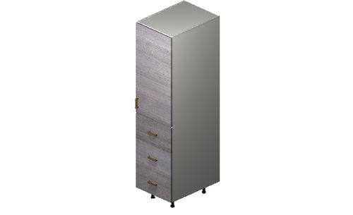 """Marquis Grey Wood Tall Cabinet - 1 Door, 3 Drawers (18 x 71.25 x 24"""")"""""""""""