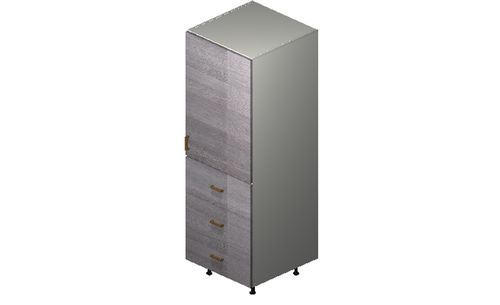 """Marquis Grey Wood Tall Cabinet - 1 Door, 3 Drawers (24 x 71.25 x 24"""")"""""""""""