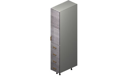 """Marquis Grey Wood Tall Cabinet - 1 Door, 4 Drawers (12 x 71.25 x 24"""")"""""""""""