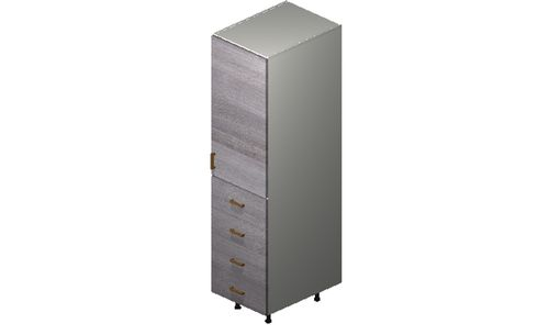 """Marquis Grey Wood Tall Cabinet - 1 Door, 4 Drawers (18 x 71.25 x 24"""")"""""""""""