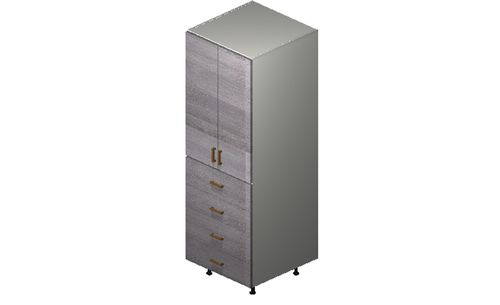 """Marquis Grey Wood Tall Cabinet - 2 Doors, 4 Drawers (24 x 71.25 x 24"""")"""""""""""
