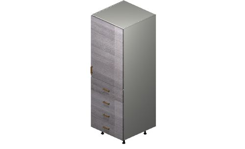 """Marquis Grey Wood Tall Cabinet - 1 Door, 4 Drawers (24 x 71.25 x 24"""")"""""""""""