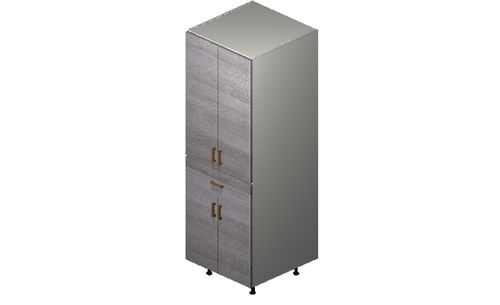 """Marquis Grey Wood Tall Cabinet - 4 Doors, 1 Drawer (24 x 71.25 x 24"""")"""""""""""