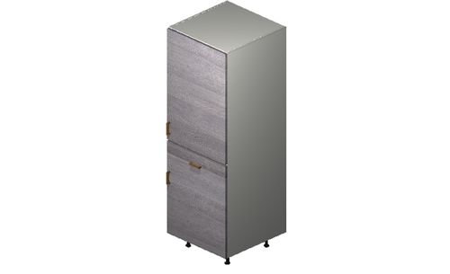 """Marquis Grey Wood Tall Cabinet - 2 Doors, 1 Drawer (24 x 71.25 x 24"""")"""""""""""