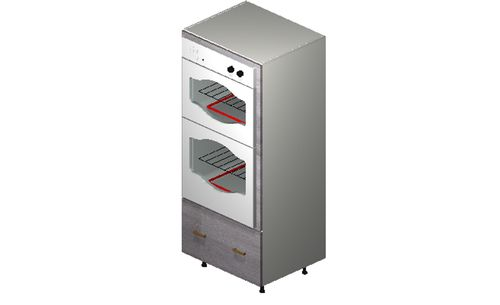 """Marquis Grey Wood Oven Tall Cabinet - 1 Drawer (30 x 71.25 x 24"""")"""""""""""