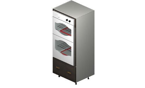 """Marquis Dark Wood Oven Tall Cabinet - 1 Drawer (30 x 71.25 x 24"""")"""""""""""
