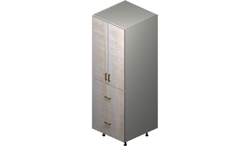 """Cortina Oyster Shell Tall Cabinet - 2 Doors, 2 Drawers, 1 Inner Drawer (24 x 71.25 x 24"""")"""""""""""