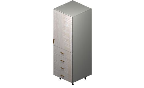 """Cortina Oyster Shell Tall Cabinet - 1 Door, 4 Drawers (24 x 71.25 x 24"""")"""""""""""