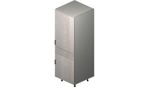 """Cortina Oyster Shell Tall Cabinet - 2 Full-Height Doors (24 x 71.25 x 24"""")"""""""""""