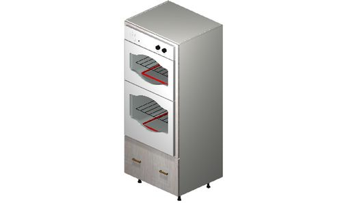 """Cortina Oyster Shell Oven Tall Cabinet - 1 Drawer (30 x 71.25 x 24"""")"""""""""""