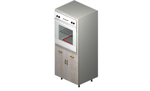 """Cortina Oyster Shell Oven Tall Cabinet - 2 Doors, 2 Drawers (30 x 71.25 x 24"""")"""""""""""