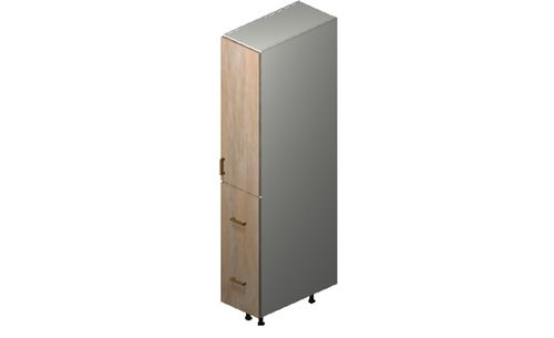 """Cortina Conch Shell Tall Cabinet - 1 Door, 2 Drawers (12 x 71.25 x 24"""")"""""""""""