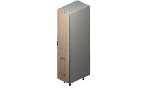 """Cortina Conch Shell Tall Cabinet - 1 Door, 2 Drawers (15 x 71.25 x 24"""")"""""""""""