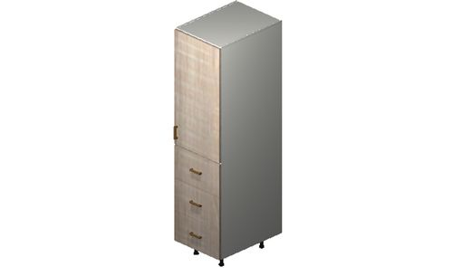 """Cortina Conch Shell Tall Cabinet - 1 Door, 3 Drawers (18 x 71.25 x 24"""")"""""""""""