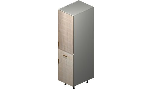 """Cortina Conch Shell Tall Cabinet - 1 Door, 1 Drawer (18 x 71.25 x 24"""")"""""""""""