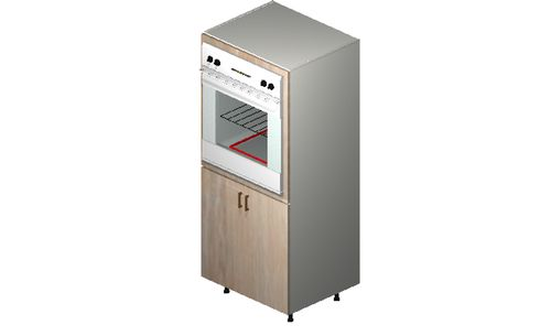 """Cortina Conch Shell Oven Tall Cabinet - 2 Full-Height Doors (30 x 71.25 x 24"""")"""""""""""