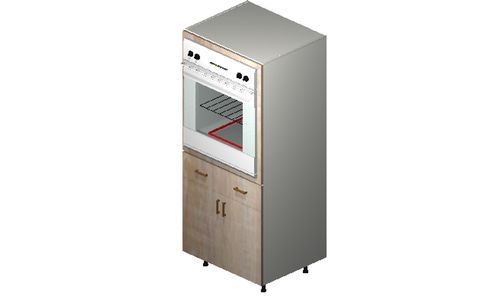 """Cortina Conch Shell Oven Tall Cabinet - 2 Doors, 2 Drawers (30 x 71.25 x 24"""")"""""""""""