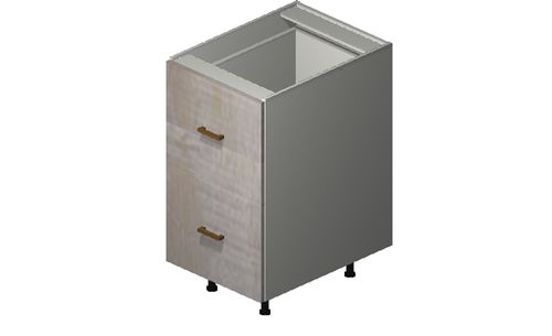 """Cortina Oyster Shell Base Cabinet - 2 Drawers, 1 Inner Drawer (18 x 34.75 x 24"""")"""""""""""