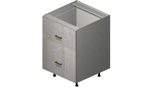 """Cortina Oyster Shell Base Cabinet - 2 Drawers, 1 Inner Drawer (24 x 34.75 x 24"""")"""""""""""