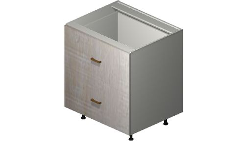 """Cortina Oyster Shell Base Cabinet - 2 Drawers, 1 Inner Drawer (30 x 34.75 x 24"""")"""""""""""