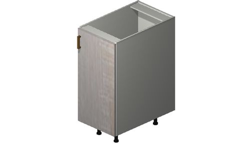 """Cortina Oyster Shell Base Cabinet - 1 Full-Height Door (15 x 34.75 x 24"""")"""""""""""