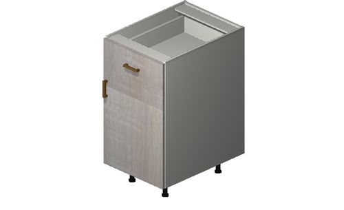 """Cortina Oyster Shell Base Cabinet - 1 Door, 1 Drawer (18 x 34.75 x 24"""")"""""""""""