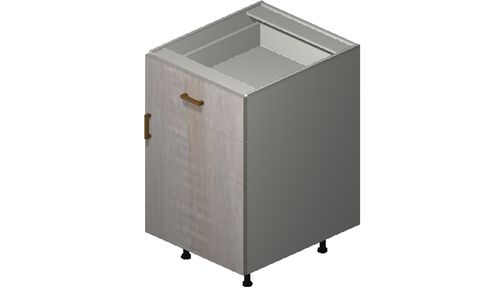 """Cortina Oyster Shell Base Cabinet - 1 Door, 1 Drawer (21 x 34.75 x 24"""")"""""""""""