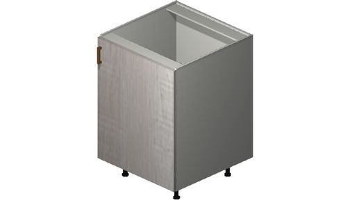 """Cortina Oyster Shell Base Cabinet - 1 Full-Height Door (24 x 34.75 x 24"""")"""""""""""