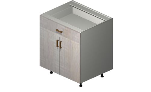 """Cortina Oyster Shell Base Cabinet - 2 Doors, 1 Drawer (30 x 34.75 x 24"""")"""""""""""