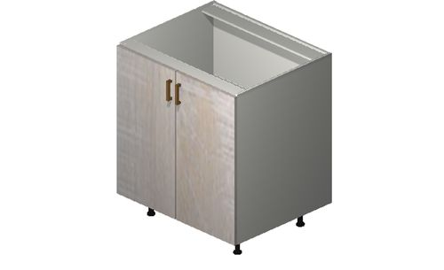 """Cortina Oyster Shell Base Cabinet - 2 Full-Height Doors (30 x 34.75 x 24"""")"""""""""""